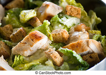 Caesar Salad - Fresh Caesar salad with crunchy croutons and...