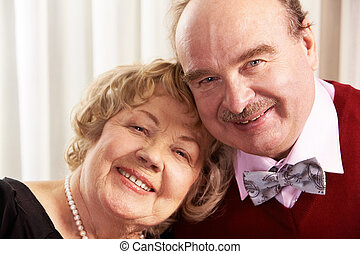 Smiling husband and wife