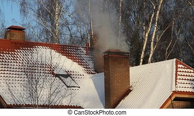 Winter cottage 1. - Winter cottage. From a fireplace flue...