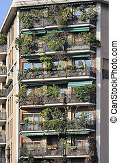 lust for green on balconies, milano - gorgeous vegetation on...
