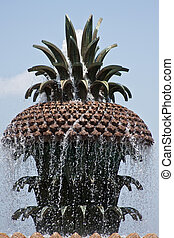 Pineapple Fountain - Pineapple fountain with flowing water...