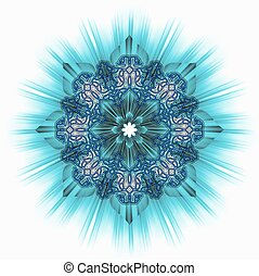 Star turquoise ornamental tile - Star turquoise corona...