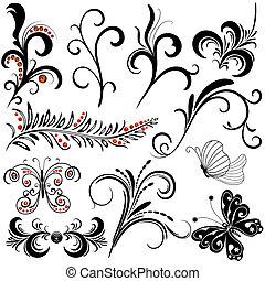 décoratif, conception, éléments