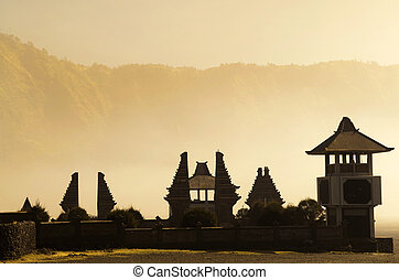 Hindu temple beside Mt Bromo, Indonesia - Pura Luhur Poten...