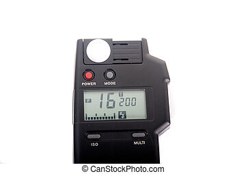 Light Meter at f16 - A light meter set at f16 and a 200th...