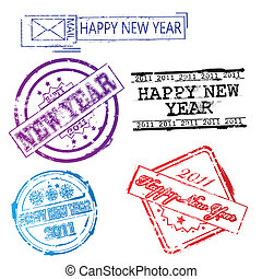 New year 2011 stamps