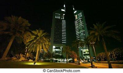 Emirates Towers complex in Dubai. - DUBAI - APRIL 17:...