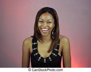 Beautiful Teen Girl Laughing - A lovely teenage girl...