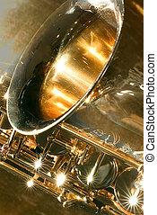 alt, saxofon, maličký, oprášit