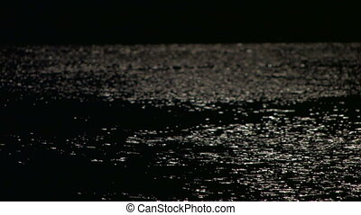 sea surface in the moonlight, defo