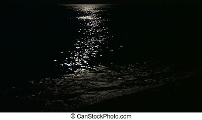 sea surface in the moonlight