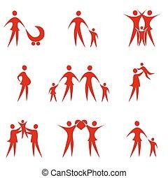 Family - abstract family symbols