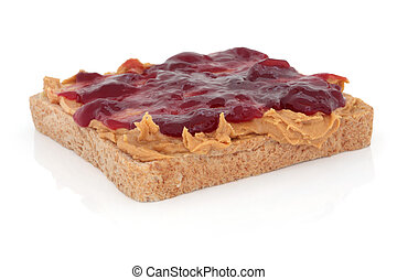 Peanut Butter and Jelly Sandwich - Peanut butter and...
