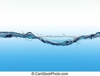 3d close up of the water surface