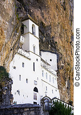 Ostrog Monastery in Montenegro Builded inside the rock