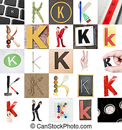 Collage of Letter K - Collage of images with letter K