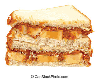 Peanut Butter and Banana Vector