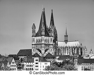 Koeln Cathedral - Koelner Dom, gothic cathedral church in...