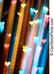 motion heart - motion colored heart abstract love background...