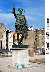 Augustus, roman emperor, Rome - The statue of the first...