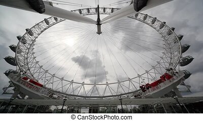 bottom view of london eye big wheel  famous symbol of london