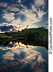 Evening Reflections - The beauty of the late evening sky as...