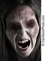Decrepid Cairn - Portrait of an eyeless female ghoul or...