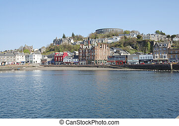 McCaigs Folly at Oban - across the harbour to McCaigs Folly...