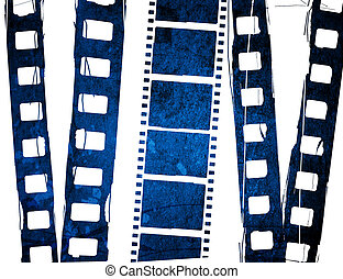 Great film strip - blue film strip for textures and...