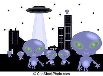 aliens  -  aliens on earth
