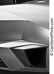 Supercar Abstract - Detail of air intake on an Italian...