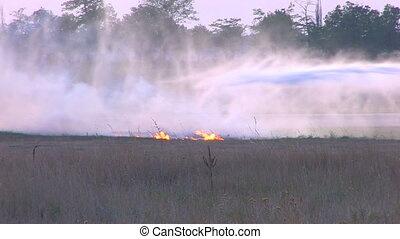 Extinguishing on flying field, Canon XH A1, 1080p, 25fps,...