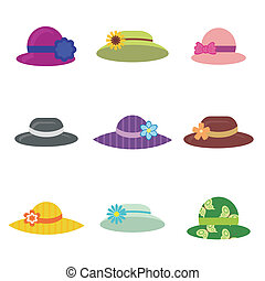 set with hats