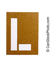 "Latter L - Cardboard stencil letter ""L"" for the replication..."