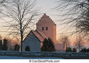 Danish Church in the Sunset