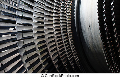 Part of Turbine - From the the old power station Tange, near...