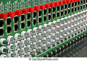 fiber optic video converter with optical FC connectors and video BNC connectors