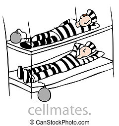 Cellmates - An image of a two prisioners in bunkbed.
