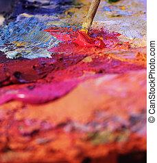 mixing oil paints