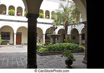 Courtyard, Presidential Palace, Quito, Ecuador Public...