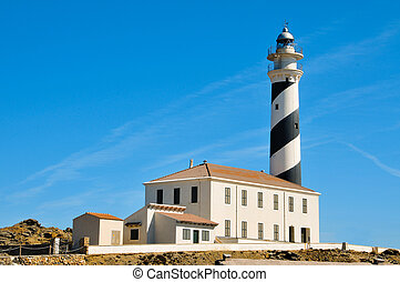 view of Favaritx beacon in Menorca, Balearic Islands, Spain