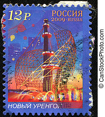Novy Urengoy - RUSSIA - CIRCA 2009: A stamp printed in...