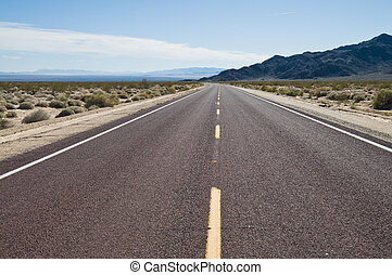 Highway through the Southern California desert