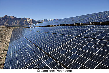 Desert Array - Mojave desert solar array at Red Rock Canyon...