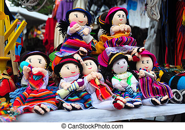 Children's cloth dolls - Traditional South American cloth...