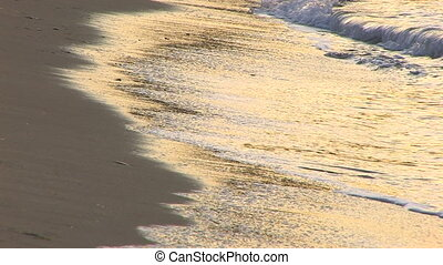 Gentle waves on a sandy beach, Canon XH A1, 1080p, 25fps,...