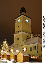 Brasov center in Christmas days, Romania