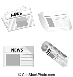 news papers - illustration of news paper on white background