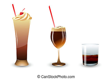 ice cream and shake - illustration of ice cream and shake in...