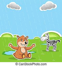 teddy and zebra